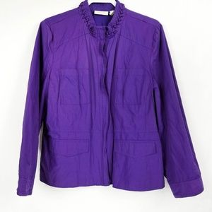 Chico's Purple Zip Jacket Size 3(L)